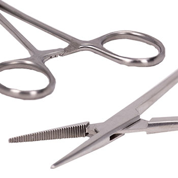 Hemostat Ring Handle and Serrated Jaws