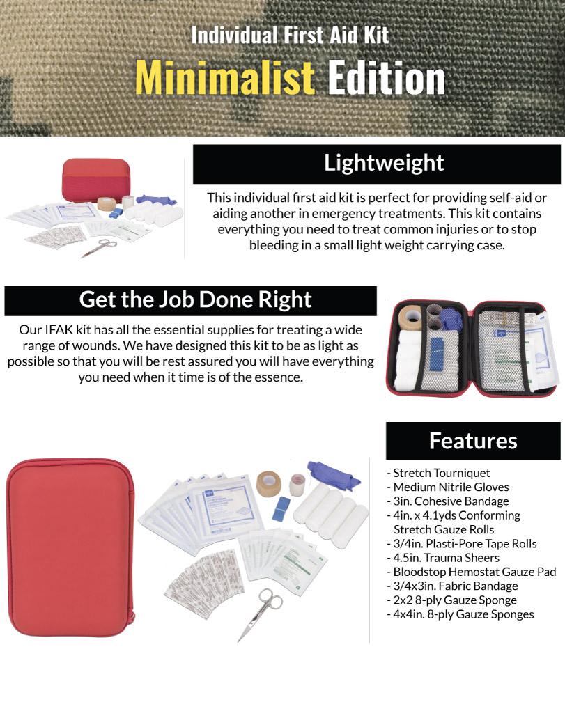 Minimalist IFAK Kit Features