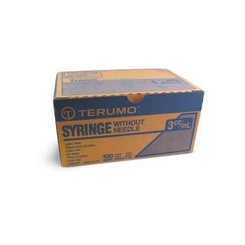 SYRINGE,3CC 22 X 1, L/L, 100/BX