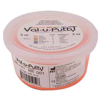 VAL-U-PUTTY, LIGHT RESISTANCE, 3 OZ, ORANGE, EA