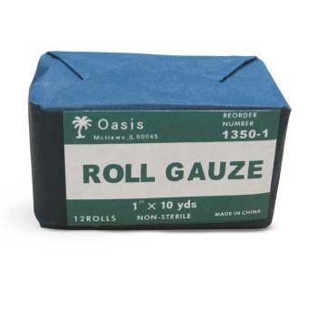 "GAUZE,ROLL,1""x10YD,N/S,12/BAG"
