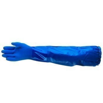 Ansell Edge PVC Fully Coated Glove with Interlock Cotton, Size 9, Gauntlet, 14-664, Pair