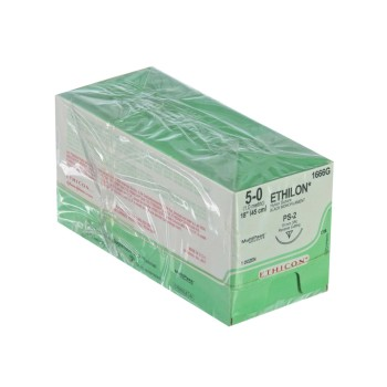 SUTURE,ETHILON,5-0,PS-2,12/BX