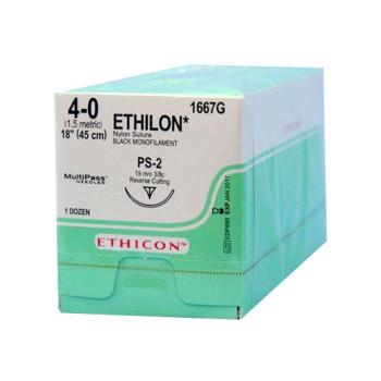 SUTURE,ETHICON,ETHILON,4-0,PS-2,12/BX