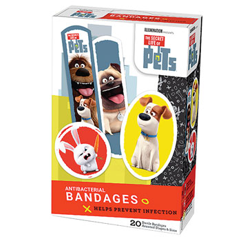 BANDAGE,SECRET LIFE OF PETS,MIXED, 20/BOX