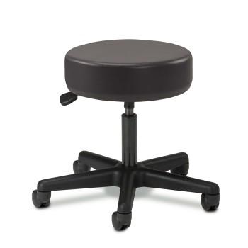 STOOL,NYLON BASE,5 LEG,PNEUMATIC,BLACK