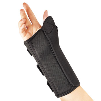 SPLINT,WRIST,THUMB,COMPOSITE,FLA ORTHO,LEFT,BLACK,SMALL