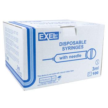 SYRINGE,3CC 25GX1, LL, EXEL, EACH