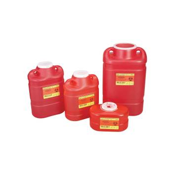 SHARPS CONTAINER,BD,5 GAL,RED,MULTI USE,EACH