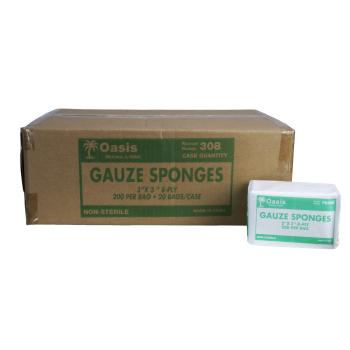 GAUZE,3X3 8PLY,N/S,4000/CASE