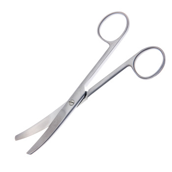 "SCISSORS, OR, 4-1/2"", BLUNT/BLUNT/CURVED, SATIN, ECONOMY"