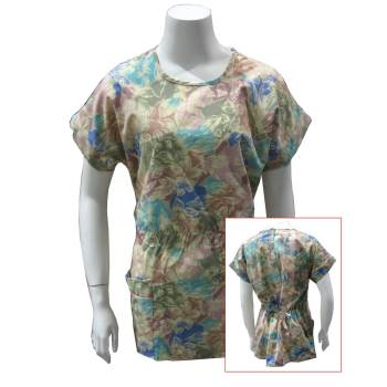 TUNIC, VINTAGE FLORAL, EASY-OUT, WOMEN'S, X-SMALL
