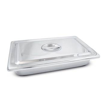 STAINLESS STEEL INSTRUMENT TRAY, W/COVER