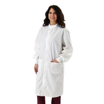 COAT,LAB,ASEP,A/S,W/PC BACK,WHT,4XL,EA