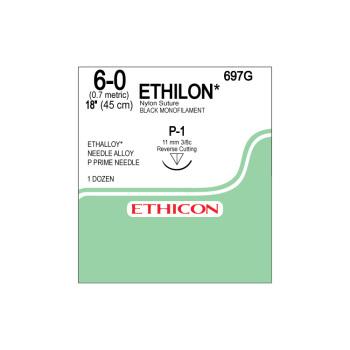 SUTURE,ETHICON,ETHILON,6-0,P-1,12/BX