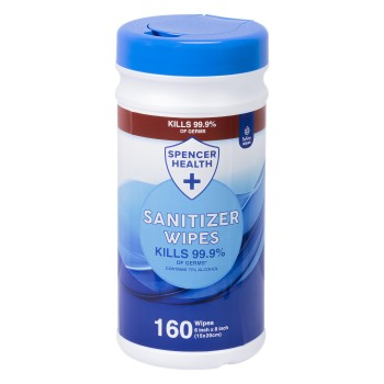 WIPES,DISINFECTANT,EXTRA LARGE, 160/CANISTER, EACH