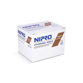 """NEEDLE,19g x 1"""", NIPRO, 100/BX"""