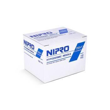 Nipro 25g x 1in  Hypodermic Needle, 100/box | Med-Vet International