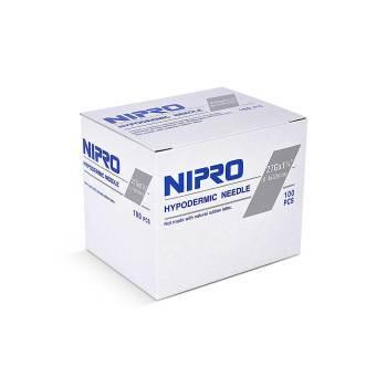 """NEEDLE,27g x 1-1/4"""", NIPRO, 100/BX"""