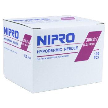 """NEEDLE,30g x 1/2"""",NIPRO, 100/BX"""