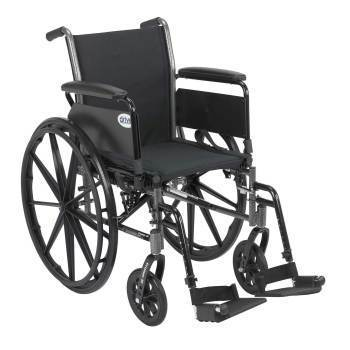 WHEELCHAIR,CRUISER,LIGHTWEIGHT,BLACK,20IN
