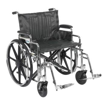 WHEELCHAIR,EXTRA HEAVY DUTY,BARIATRIC,BLACK,24IN