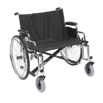 WHEELCHAIR,HEAVY DUTY,EXTRA WIDE,BLACK,28IN