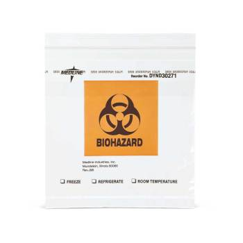 BAG,SPECIMEN,BIOHAZARD,ZIPLOK,8X8,POCKT,1000 EA/CS