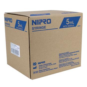 SYRINGE,5CC 22x1-1/2,L/L,NIPRO,100/BX