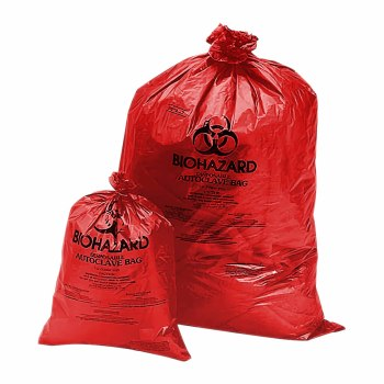 CONTAINER,BIOHAZARD DISPOSAL BAGS,6-9GAL,50PK