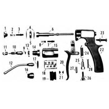 Syringe, vaxi-drench, 15cc, repair kit, parts 2,3,4,7,8,9,17