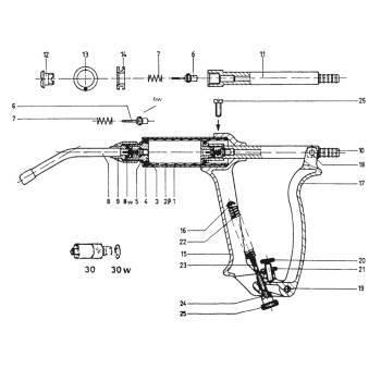 Syringe, henke drench-matic, piston rod complete (6,7,11,12,13,14)