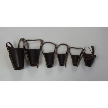 MUZZLE,LEATHER MUZZLE SET OF 6, DOG AND CAT SIZES