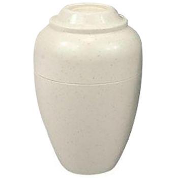 Urn,Urnee small cremation urn, tan