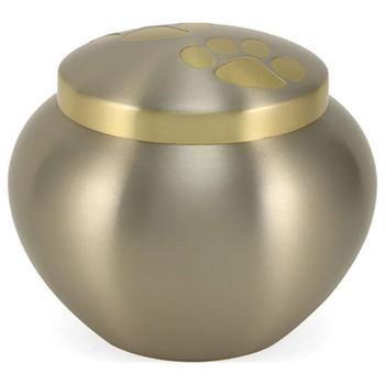 Urn,Pewter/Brass double paw Odyssey lg urn