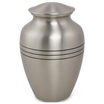 Urn,Classic Pewter urn-medium