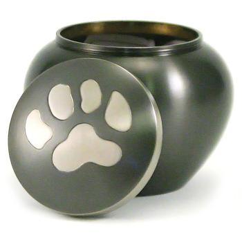 Urn,Slate-Pewter single paw Odyssey med urn