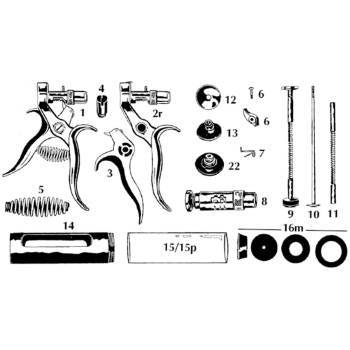 Set, washer pack, modified haupter, repair kit (incl. 6,7,15c,16m)