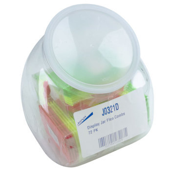 Flea comb,Colored flea combs in display jar, 72 pk.