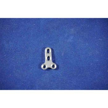 T-Plate, 2mm T 4 hole, 18mm