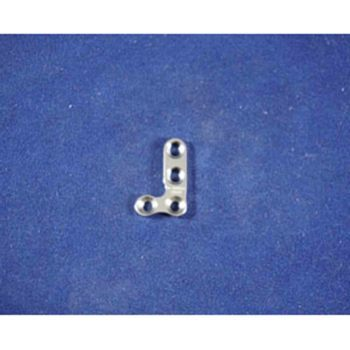 T-Plate, 2mm T 4 hole angle R, 18mm