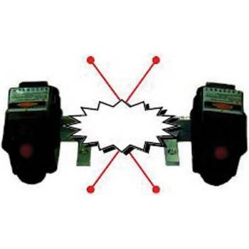 Holder, dual laser pointer for x-ray units