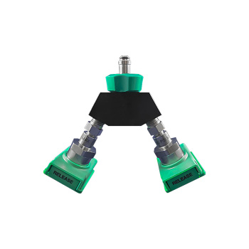 Oxygen Connector,Wye chemtron fem/w/DISS