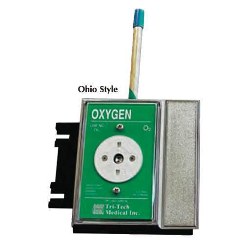 Oxygen Connector,Surface mount Ohio female quick disconn.