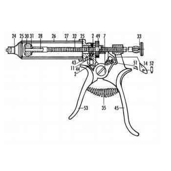 Kit, henke dosage repair kit, plunger rod, included 2, 11, 42, 43