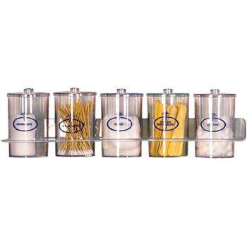 Jar, sundry, clear, set of 5