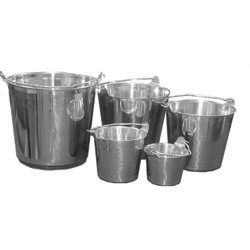 S/S,PAIL,W/HANDLE,128 OZ, 4 QUART,EACH