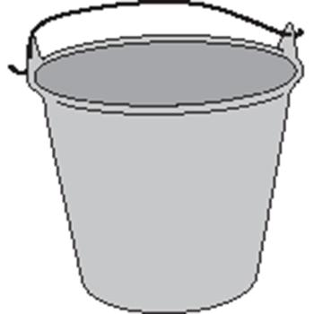 PAIL,W/HANDLE,S/S/ 6 QT., 192 OZ. EACH