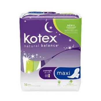 PAD, MAXI, OVERNIGHT, KOTEX,168 EA/CS