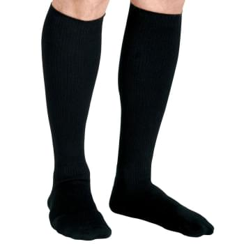 SOCK, COMPR, CUSH, KNEE, 15-20, SIZEC, BLACK, S